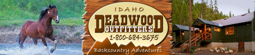 Idaho hunting, horseback riding, photography, fishing at Deadwood Outfitters Lodge near Cascade Idaho